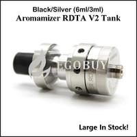 100% auténtico vapor Crave Aromamizer RDTA V2 vidrio tanque atomizador 304ss 2-post-cubierta construida Velocity estilo 3ML 6ML RDA OCC Tanques depósito secundario de mini