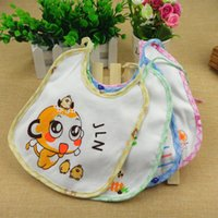 belle knitted - Orange Belle knitted cotton towel baby small Bib nozzle water proof Bib factory direct cartoon