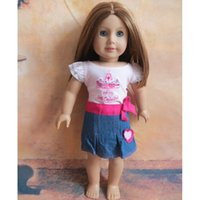 american girl doll outfits - Outfits for inch American Girl Doll Clothes Skirt for Doll set T shirt skirt with Track Code