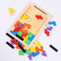 Wholesale Children s Educational Toys Wooden Puzzles Versatile Building Blocks Tetris A00124 BARD