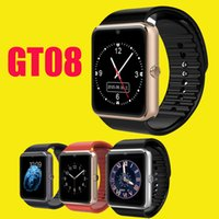 red camera - GT08 Smart Watch Compatible Platform IOS Android With Pedometer Camera Monitoring Sleep Sedentary Reminder For iPhone Samsung DHL OTH098