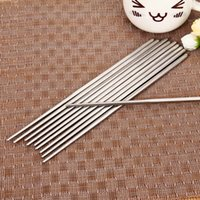 Wholesale Chopsticks Pairs Portable Stainless Steel Chopsticks metal Exquisite Non slip palillo chino for sushi metal chopsticks