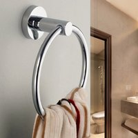 Wholesale Stainless Steel Round Style Wall Mounted Towel Ring Holder Hanger Bathroom Hot