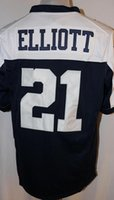 Wholesale Men s Game Jersey Dak Prescott Ezekiel Elliott Dez Bryant Jason Witten Cole Beasley White Blue Thanksgiving Jerseys