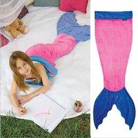 best fleece blankets - Mermaid Tail Wrap Soft Fleece Blanket Bed snuggle in Sleeping Bag Cocoon Costume Shark Mermaid Blanket Sleeping Bags type to choose best