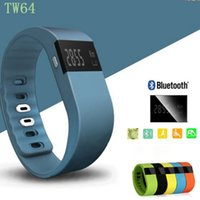 Wholesale Colors tw64 Sport Smart Ribbon Bracelet Fitness Bluetooth Equipment for iphone for Samsung Podometro Wrist Pedometer