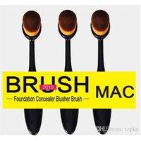 1 bb m - M C Oval Makeup Brush Toothbrush Shaped Cosmetic Foundation BB Cream Powder Blush Makeup Tools Blending Brush High Quality