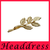 american state department - Europe and the United States Department of Athena olive branch Sen retro hair beautiful bride headdress hairpin tree leaf child clip golden