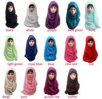 Wholesale Fashion Shawls and scarves solid plain hijab scarf women wraps foulard viscosecotton maxi shawls soft long islamic muslim scarves hijabs