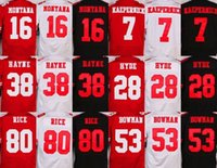 49ers - Elite ers jerseys cheap rugby football jerseys San Francisco MONTANA BOWMAN RICE HAYNE KAEPERNICK HYDE red white black