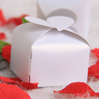 Wholesale Paper Heart Style Cake Cookie Candy Box Gift Boxes Wedding Party Favor White H2010253