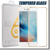 alloy covers - Screen Protector For Iphone Plus Rim Tempered Glass Full Cover Screen Film Titanium Alloy mm D H Explosionproof In Retail Package