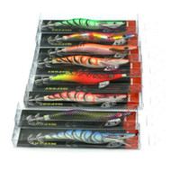 bait lot - Hot pc squid hook Fishing lures cm g Squid Jigs Lures color Squid Jigs Hook Mixed squid lure