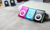 Wholesale Cheap PC mini Clip mp3 player support micro sd card with Gift box earphone usb JBD MP3