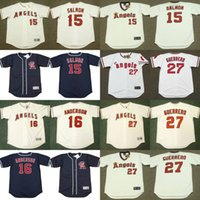 anderson baseball - Men GARRET ANDERSON TIM SALMON VLADIMIR GUERRERO California Angels Throwback Alternate Baseball Jersey stitched