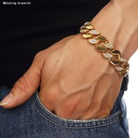 24k solid gold ring - Extra coarse K Solid Gold MIAMI CUBAN LINK Exaggerated Heavy Shiny Diamond Bracelet Hip Hop Bling Jewelry Hipster Men Wristband Bangle