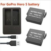 Nuevo cargador dual de la batería AHDBT-501 + USB de 2pcs 1220mAh para GoPro 5 Hero5 AHDBT 501