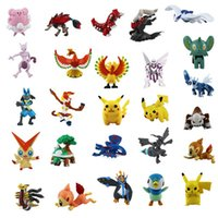 Wholesale 144 Styles Poke Pocket Cartoon Pikachu CM Action Figures Doll Poke For Chirdren Halloween Chirdren Christmas gifts Kid Toys