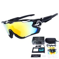 Wholesale 5 Lens UV400 Brand Polarized Jaw Sunglasses For Men Women Sport Cycling Bicycle Mens Fashion Sunglasses Quality Cycling Eyewear With Box