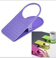 Wholesale Table Desk Water Cups Clip Drinklip Glass Cup Holder Mug Home Office Room Tumblerful Glass Clamp Water Stand Clip Multicolour DHL factory