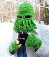beret pattern knit - Octopus Pattern Beanies Winter Warm Knitted Wool Ski Face Mask Knit Hat Squid Cap