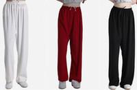 art trousers - colors unisex High stretch hemp tai chi taiji pants martial arts kung fu taiji trousers top quality red blue black pink