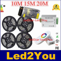 high power rf - High Quality RGB SMD LED Strip light Leds m DC12V Power Adapter Transformer G RF Remote Controller