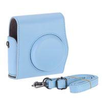 Wholesale Fashion vintage leather case fuji mini instax camera bag camera bag cases straps hot sale