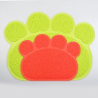 best dog food - Best Quality PVC Pet Dog Cat Feeding Food Mat Easy Cleaning Anti slip Dog Paw Shape Table Mats For Small Medium Large Dogs