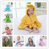 Wholesale New Cartoon Animal Baby Hooded Bathrobe Baby Towel Children Bath Kids Infant Baby Bathrobe