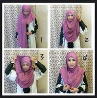 amira hijab - Jersey instant shawl hijab slip on shawls plain amira hijabs cotton jersey scarf can choose colors