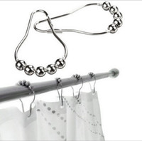 Wholesale New Hot Selling Arrive Polished Satin Nickel Roller Ball Shower Curtain Rings Curtain Hooks