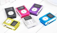 Wholesale Colorful MINI Clip MP3 Player with Inch LCD Screen Music player Support Micro SD Card TF Slot with USB Cable with Gift box