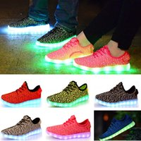 basketball usb - Adult Led Shoes Women Men Colorful Lighting Flashing Sneakers Casual Shoes With USB Yezzy Athletic Basketball Sport Flat Shoes HH S02