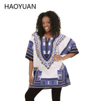 african tribal - 2016 African Dresses For Women Dashiki Men African Clothes Hippie Shirt Caftan Vintage Unisex Tribal Mexican Top Bazin Riche