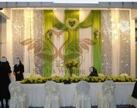 apple green curtains - White And Apple Green Color Backdrop Curtain ft ft Stage Background