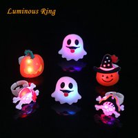 Wholesale Halloween decoration led finger lights christmas led ring lights mini decoration lights portable noverty pumpkin santa claus ghost pirate