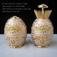 Wholesale Vintage metal toothpick holder box for tableware decoration multicolors