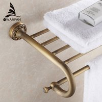 Wholesale New arrival Fashion Antique Brass towel rack shelf bathroom accessories luxury bath towel holder toilet ST3701