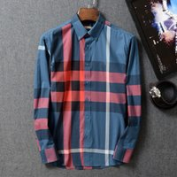 Wholesale New brand of winter domestic business and leisure men s fashion classic plaid cotton cultivate one s morality shirt long sleeve shirt