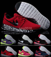 Wholesale 2016 Roshe Run Running Shoes For Women Men Red Black High Quality Roshes Sneakers Walking Outdoor Shoes Breathable Lightweight Jogging Shoe