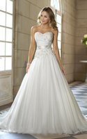 Wholesale white ivory charming new hot selling top fashion Ball gown chiffon sweetheart wedding dress in stock size to16 USA