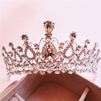 Cheap Wedding Bridal Crystal Tiara Crowns Princess Queen Pageant Prom Rhinestone Veil Tiara Headband Wedding Hair Accessory#DJ0349