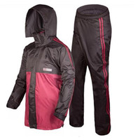 Wholesale Outdoor Camping Rain Suit Hidden Rainhat High Quality Multiple Functional Thicker Rain Jacket and Pant Professional Adult Raincoat Sets