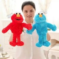 Wholesale The story of parent child interaction active hand puppet long mouth Sesame Street plush toys gifts of children