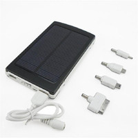 Wholesale New Solar Charger Power Bank mah External Battery Portable Solar Powerbank for Smarts Phone Tablet MP3 Player High Capacity