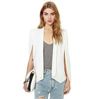 Wholesale Fashion Women Lapel Split Long Sleeve Pockets jacket Casual Blazer Cape Suit Workwear PY1