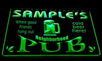 beer party lights - LS587 g Name Personalized Neighborhood Home Bar Pub Beer Neon Light Sign