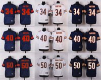 bears payton - Chicago Elite Mens Jerseys Bears Walter Payton Gale Sayers Jeremy Langford Mike Singletar white black jerseys