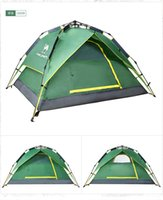 Wholesale outdoor people double layer waterproof durable and ripstop pop up tent camping shelter for sale